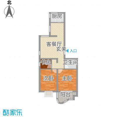 千禧・御东画卷5.70㎡G1户型3室2厅1卫1厨-副本