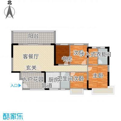 碧桂园・东江凤凰城144.20㎡单张户型4室2厅2卫1厨
