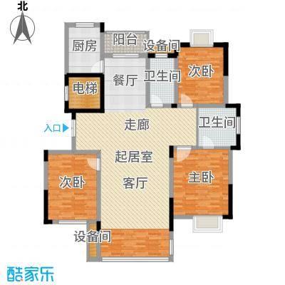 兴福锦园142.20㎡一号楼面积14220m户型-副本