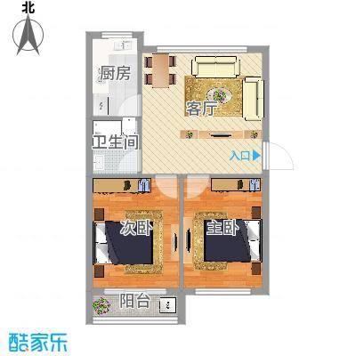 凤凰新村2室1厅1卫1厨55.00㎡