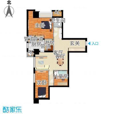 世家名门112.26㎡世家名门户型图精装SOHO公寓雀巢E3户型2室2厅1卫户型2室2厅1卫-副本
