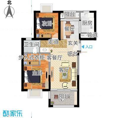 上海裕花园94.00㎡户型2室1厅1卫1厨-副本-副本