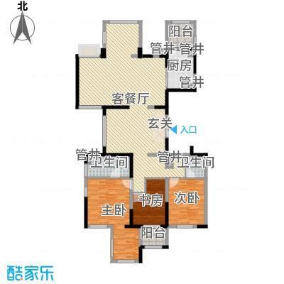 龙湖蔚澜香醍公寓198.00㎡A户型5室3厅2卫1厨-副本