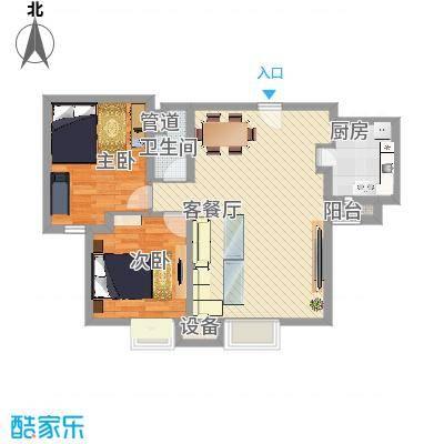 上上城青年新城f-2户型2室2厅1卫1厨-副本