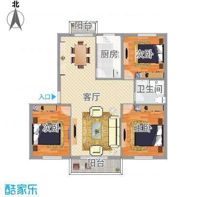 国泰花园三室一厅3室1厅1卫1厨
