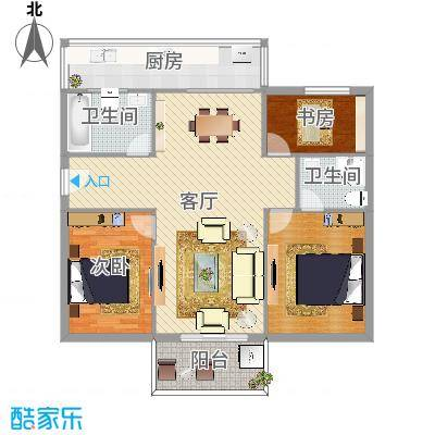 高塘怡景苑3室1厅78平方米