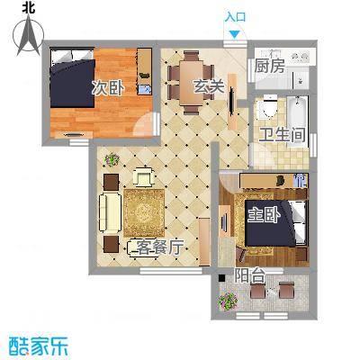 枫桦豪景8.61㎡复件户型-副本