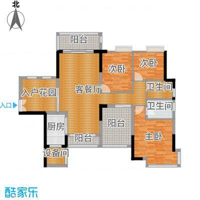 三水奥林匹克花园111.00㎡峰景15栋01-02单位户型3室1厅2卫1厨-副本