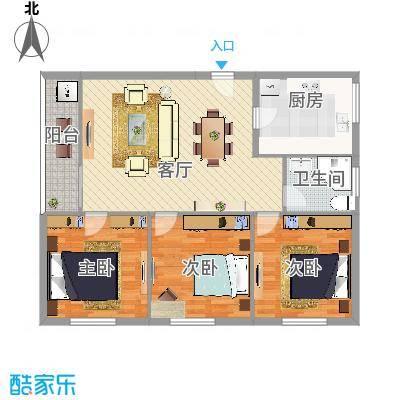 丽晶国际公寓三室两厅一卫