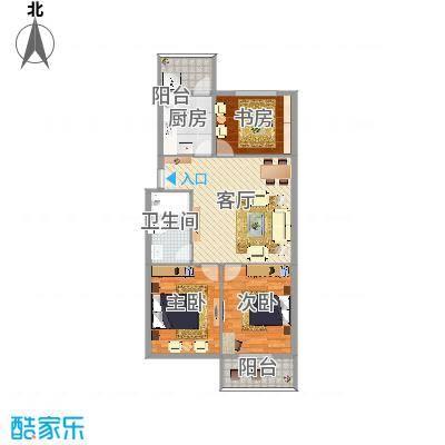 欢乐精品园3室2厅97㎡