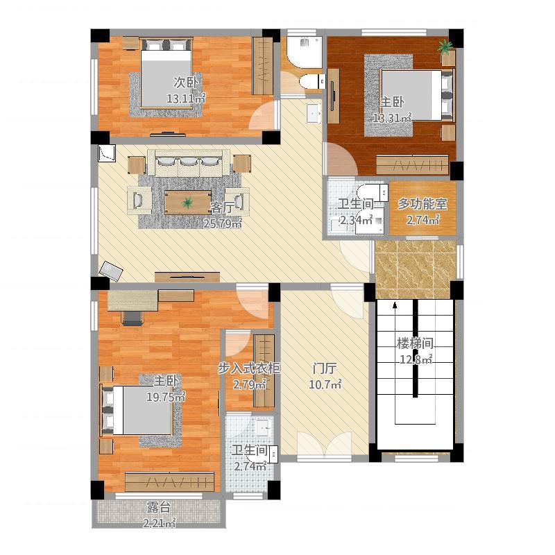 潮州市自建别墅二层平面图楼盘风水分析
