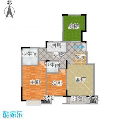 亿城叠山院116.00㎡2室2厅2卫1厨户型2室2厅2卫-副本