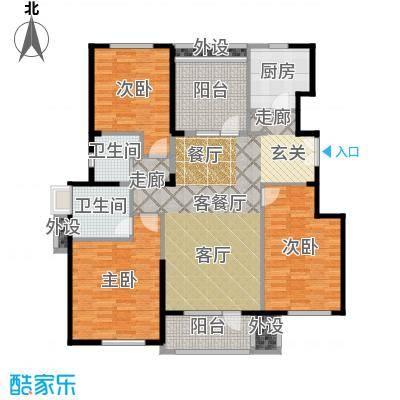 亿城叠山院138.00㎡4室2厅2卫1厨户型4室2厅2卫-副本