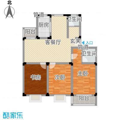 鸿运苑128.00㎡鸿运苑3室户型3室-副本