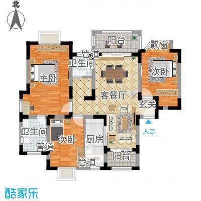 农房・英伦尊邸134.20㎡高层C-1户型3室2厅2卫1厨-副本