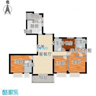 ART蓝山178.00㎡标准层E户型4室2厅3卫1厨-副本