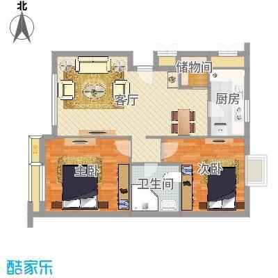 宁沁家园2室81平