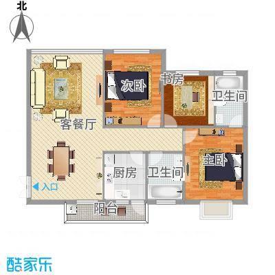 日月星城3室2厅2卫1厨(1)