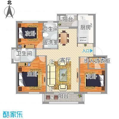 塞纳丽景三室两厅两卫
