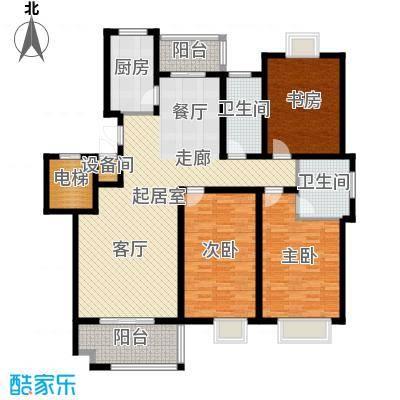 兴福锦园144.70㎡6面积14470m户型-副本