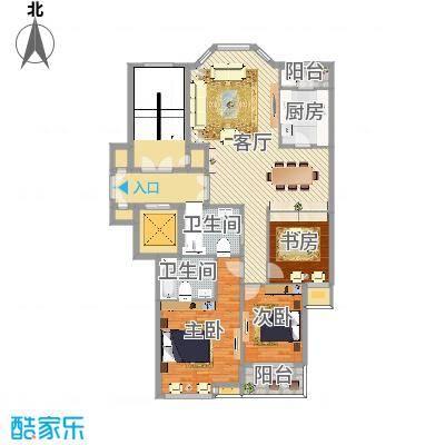 盛世华城小高层三室两厅两卫三房南客厅北