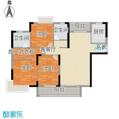 滨河佳苑155.58㎡A1_户型3室3厅2卫1厨