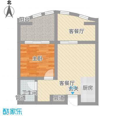 洱海国际生态城57.72㎡沧洱全景公寓A户型