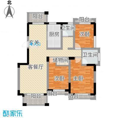 瓯龙・圣芭芭拉125.17㎡D2户型3室2厅2卫-副本