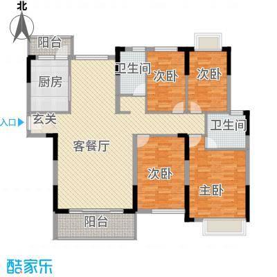 滨河佳苑164.42㎡B3_户型4室4厅2卫1厨