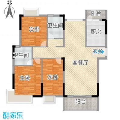 滨河佳苑142.79㎡B1_户型3室3厅2卫1厨
