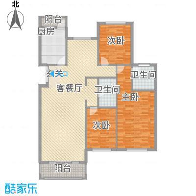 美珠花园160.00㎡L户型3室3厅2卫1厨