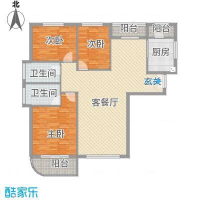 美珠花园147.34㎡G户型3室3厅2卫1厨