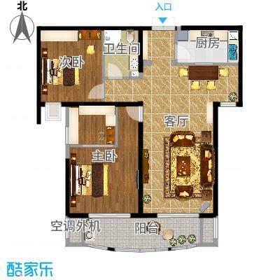 金吉华冠苑104平米设计前置