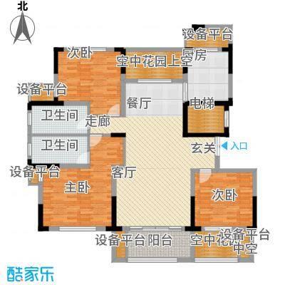 大地香漓湾143.00㎡A户型-副本