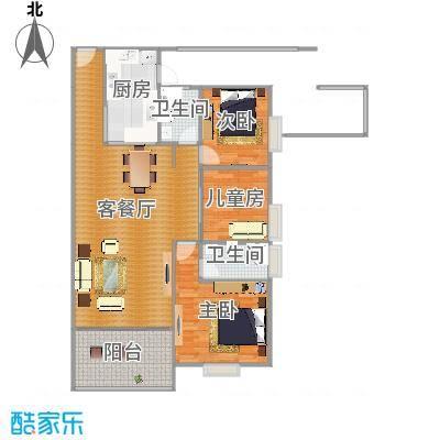 东方顺景三房两厅114.81平+花园露台