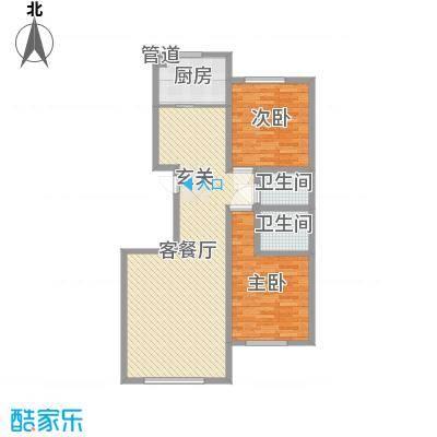 明日星城东河花苑3户型
