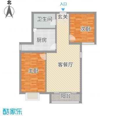 学府华庭D区112.89㎡1户型2室2厅1卫1厨