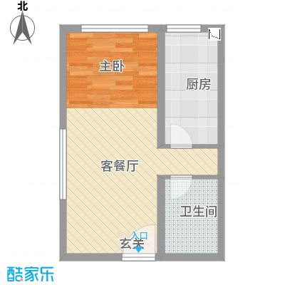 万成广场53.90㎡F2户型1室1厅1卫1厨