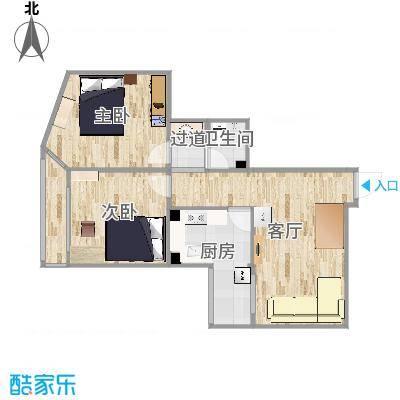 紫绶园307,户型图+家具+灯+吊顶位置