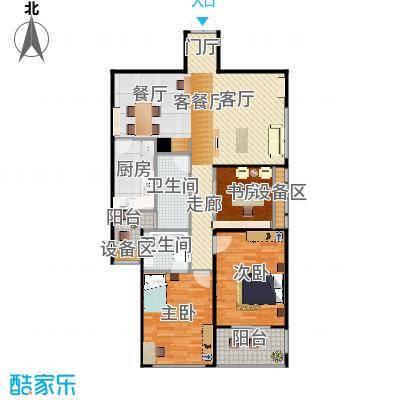 滨湖・明珠三房两厅两卫118.78m2户型-副本