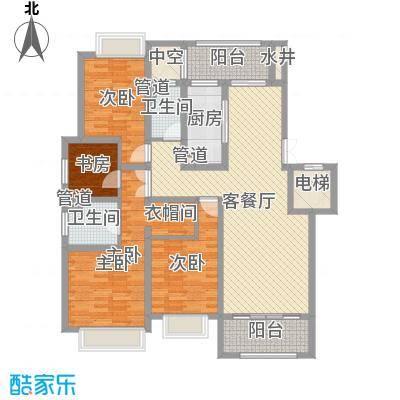 绿地乔治庄园163.00㎡绿地乔治庄园户型图二期花园洋房163平米户型4室2厅2卫1厨户型4室2厅2