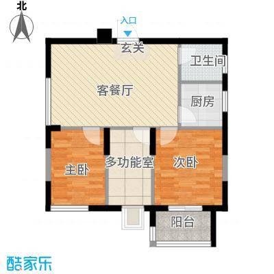 华典佳苑79.13㎡1户型3室3厅1卫1厨