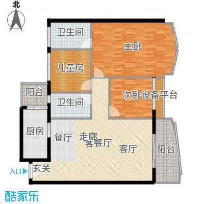 荔城碧桂园133.00㎡面积13300m户型-副本