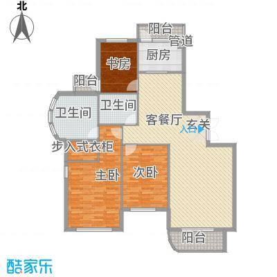 美珠花园149.02㎡J户型3室3厅2卫1厨