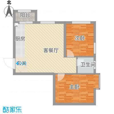 溪林湾・东方新天地82.00㎡户型2室2厅1卫