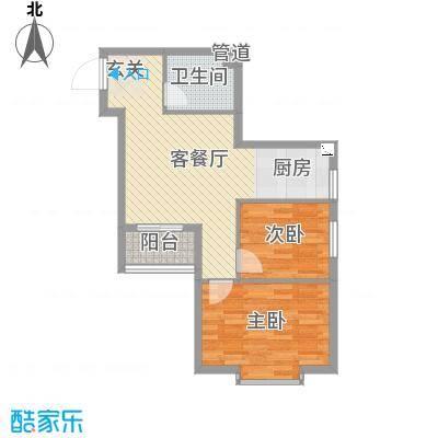 溪林湾・东方新天地72.00㎡户型2室2厅1卫