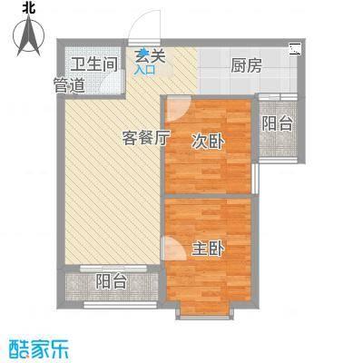 溪林湾・东方新天地75.00㎡户型2室2厅1卫