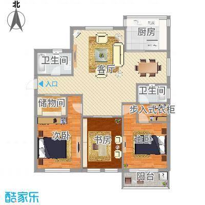 世纪城3室2厅2卫1厨