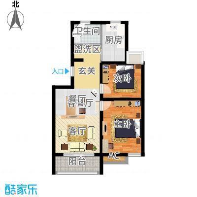 金水湾金水湾户型图户型图2室2厅1卫1厨户型2室2厅1卫1厨-副本