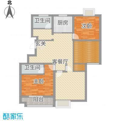 柏盛苑127.13㎡一期1号楼标准层L户型3室2厅2卫-副本